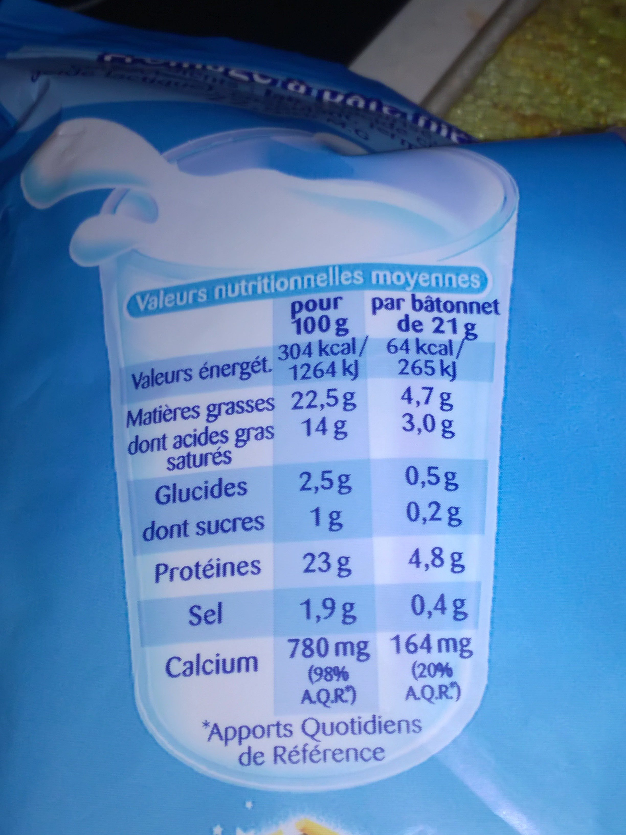 Fromage nature - Nutrition facts - fr