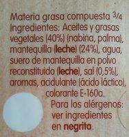 Un delicia con mantequilla - Ingredients