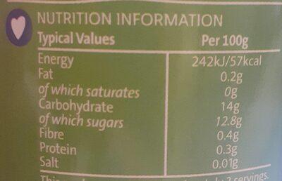 Fruit Cocktail - Informations nutritionnelles - en