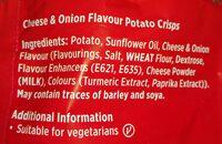 Tayto chips - Ingrédients - en