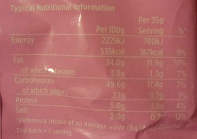 Prawn Coctail Crisps - Nutrition facts