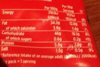 Tayto Cheese & Onion Crisps - Nutrition facts - en