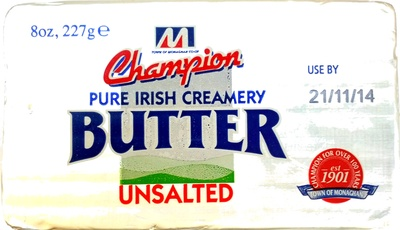 Pure Irish Creamery Butter Unsalted - Product - en