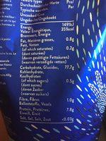 Riz Basmati 01 KG TILDA - Informations nutritionnelles