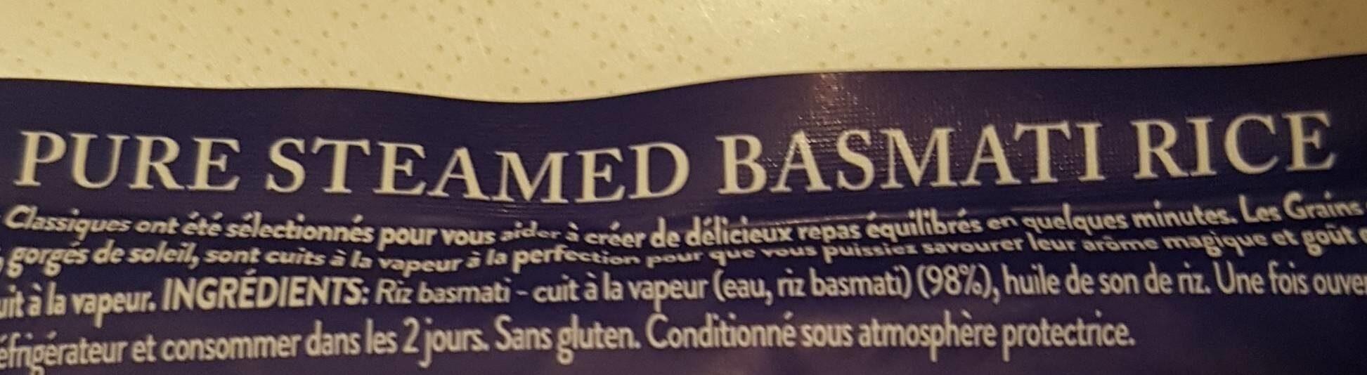 Tilda Pure Basmati - Ingrédients - fr