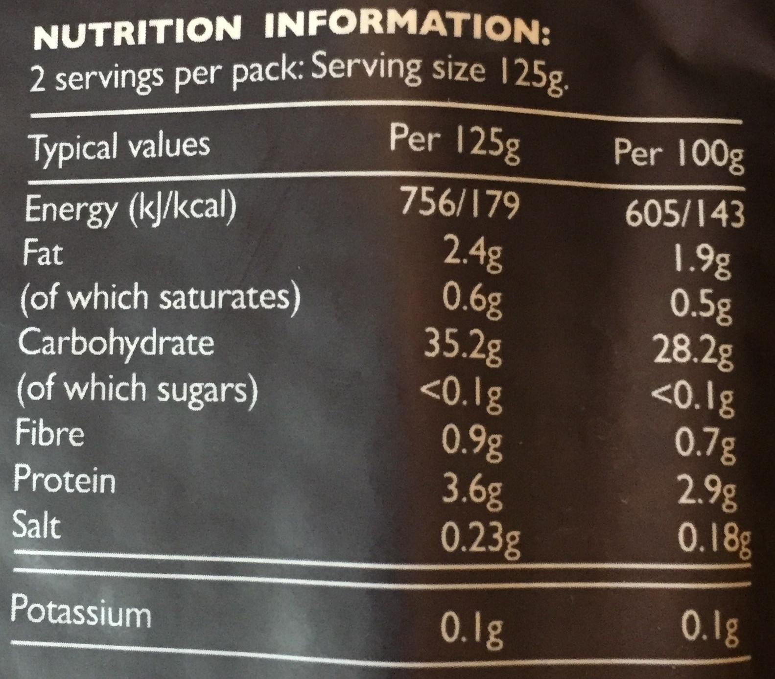 Pure Basmati Rice - Nutrition facts - en