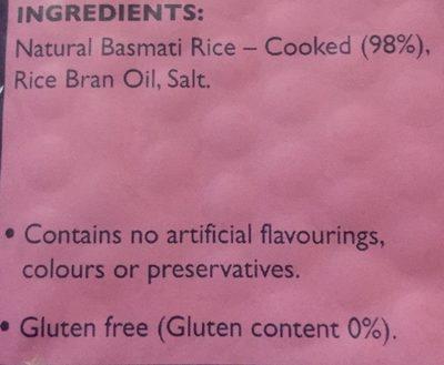 Tilda Steamed Brown Basmati Rice - Ingredients - en