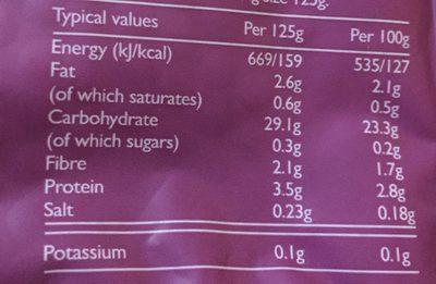 Tilda Steamed Brown Basmati Rice - Nutrition facts - en