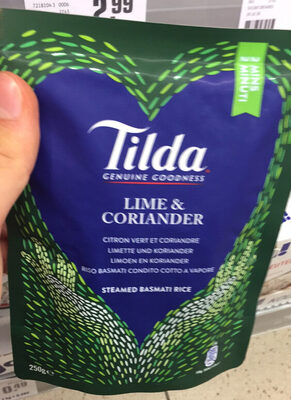 Tilda Steamed Lime and Coriander Basmati Rice - Produit - fr