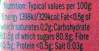 Chinese Honey - Nutrition facts