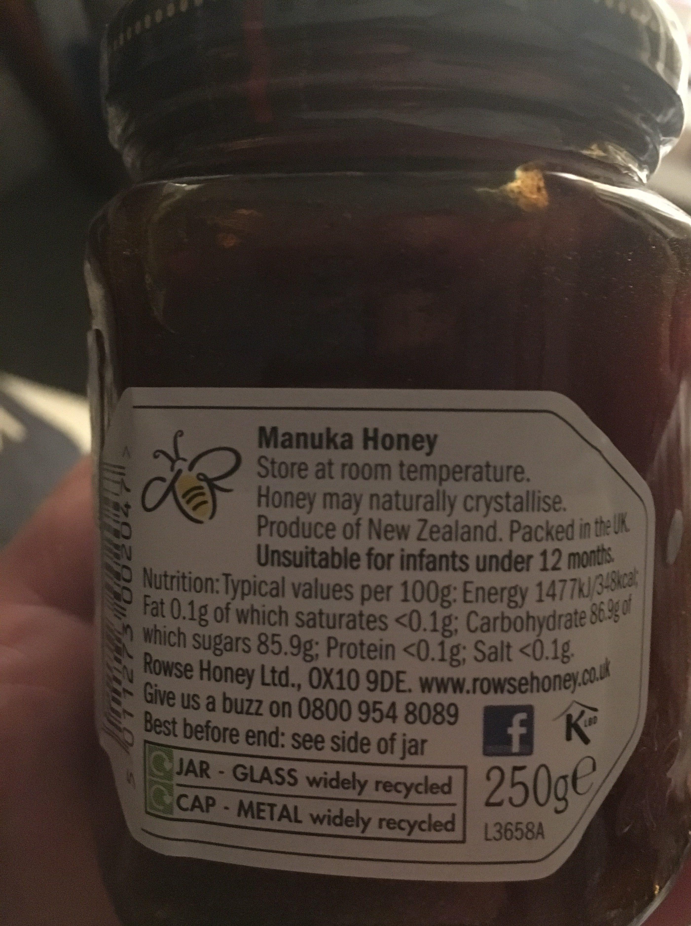 Rowse Manuka Honey 15+ 250G - Ingrediënten
