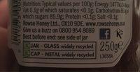 Rowse Manuka Honey 15+ 250G - Voedingswaarden