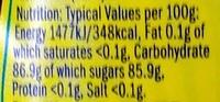 Supahoney : Manuka + Honey + Lemon - Nutrition facts - en