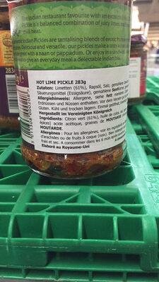 Hot Lime Pickle - Ingrediënten - fr