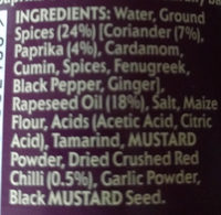 Patak's Madras Spice Paste - Ingredients - en