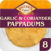 8 Garlic & Codiander Pappadums - Produit