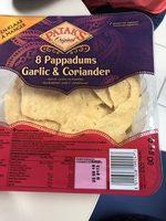Pappadums ail et coriandre - Produit - fr