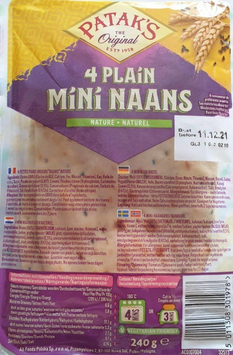 4 plain Mini Naans - Prodotto - fr