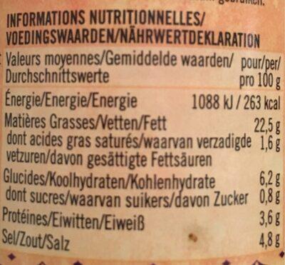 Extra hot curry paste - Informations nutritionnelles - de