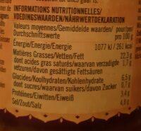Rogan Josh curry paste - Informations nutritionnelles - fr