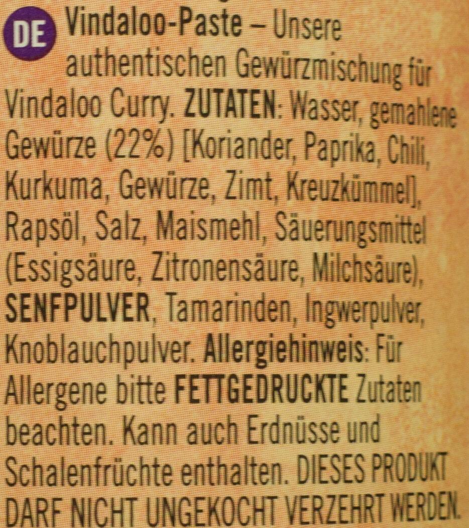 Vindaloo Paste - Ingrédients