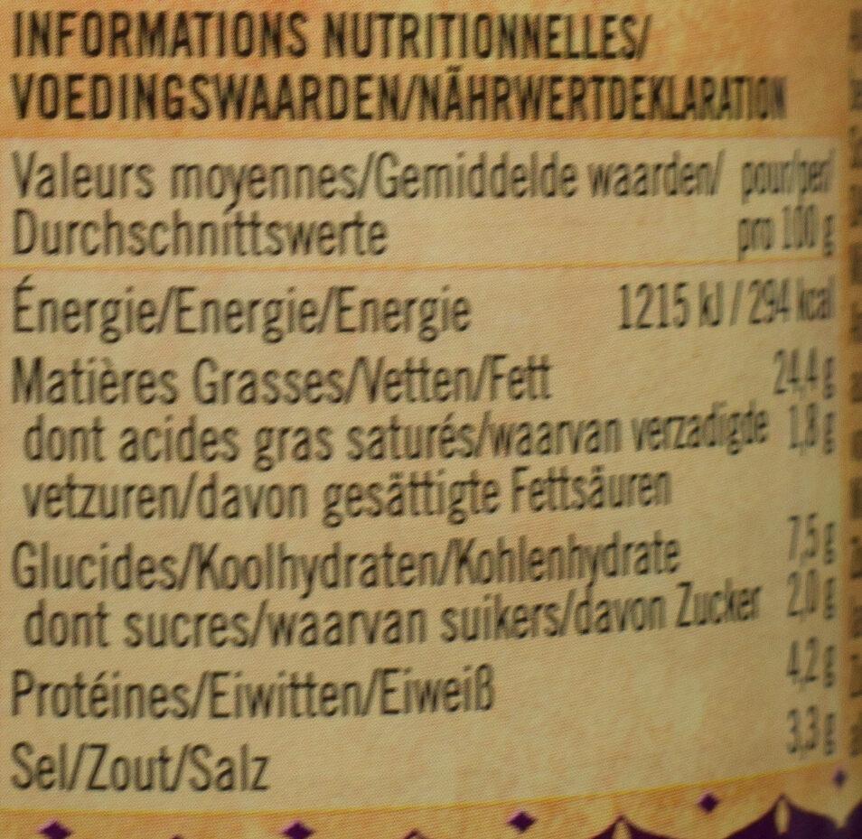 Vindaloo Paste - Voedingswaarden - de