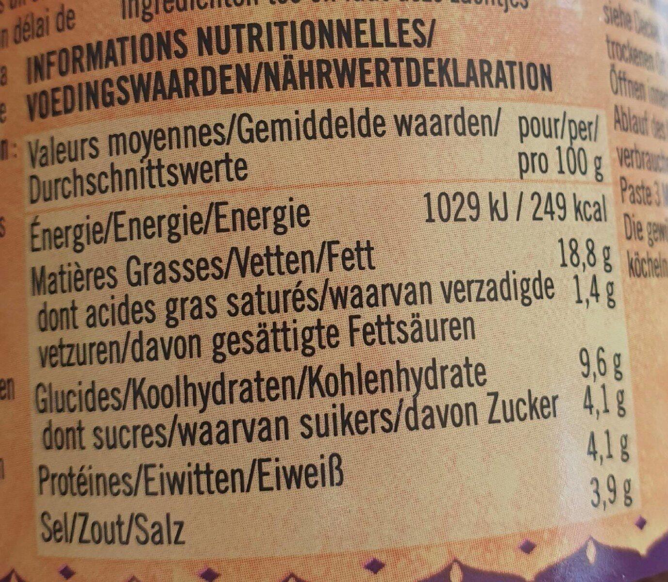 Bhuna Paste - Informations nutritionnelles - de