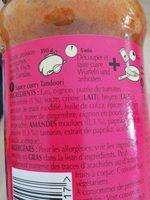 Tandoori Sauce Curry Indienne - Ingrédients - fr