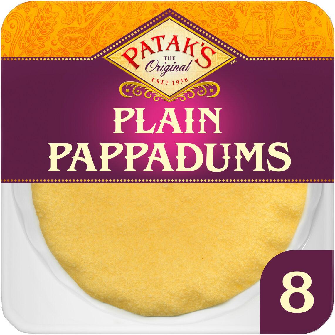 Plain Pappadums x 8 - Produit - en