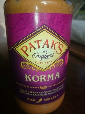 Pataks Korma Sauce 450g - Produit - fr