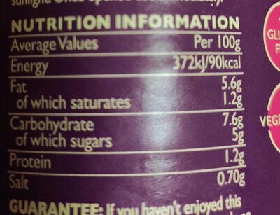 Jalfrezi sauce (Dalzt) - Informations nutritionnelles - en