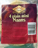 4 plain mini Naans - Product