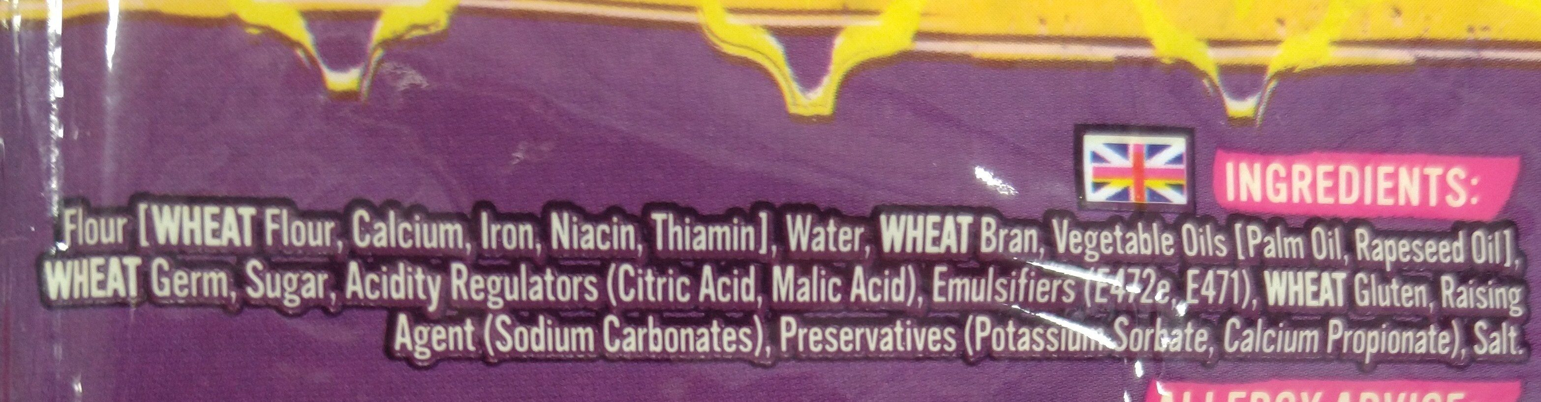 Chapattis - Ingrédients - en