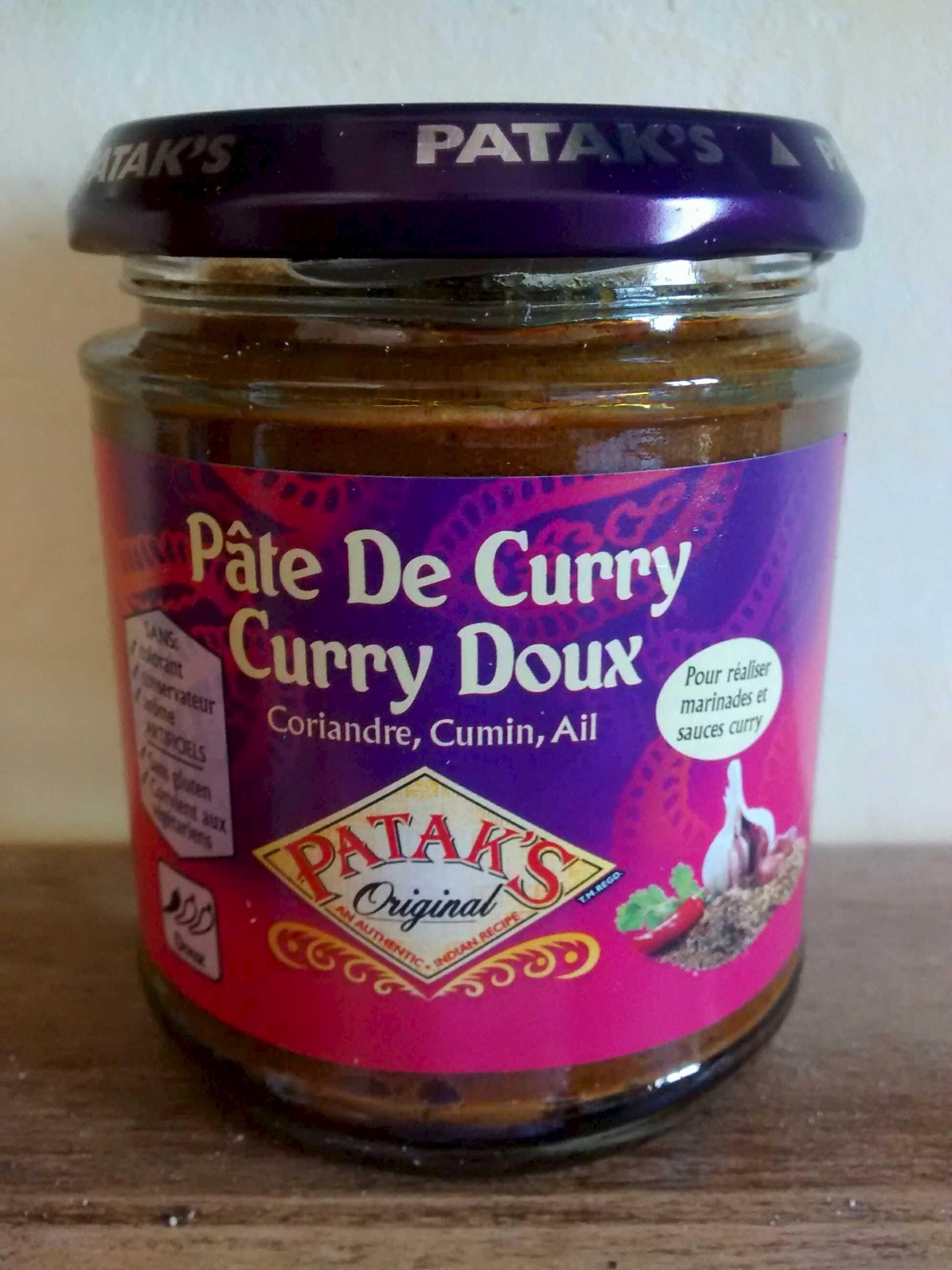 p 226 te de curry curry doux patak s 165 g