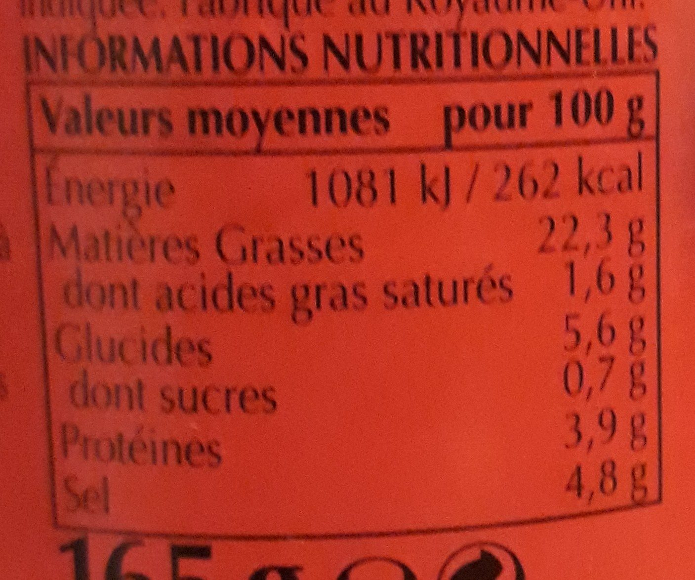 Pâte de curry Curry Doux - Nutrition facts