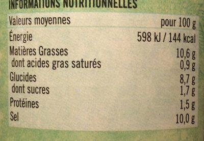 Pickle De Mangue 283G Pataks - Informations nutritionnelles - fr