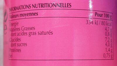 Sauce cury indienne tandoori - Voedingswaarden - fr