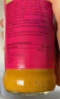 Korma Sauce Curry Indienne - Informations nutritionnelles - fr