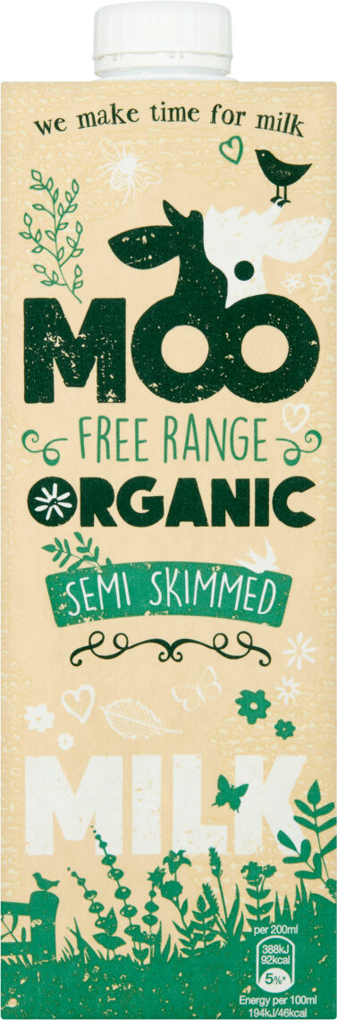 Moo Organic Semi Skimmed Milk - Prodotto - en
