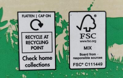 Moo Organic Semi Skimmed Milk - Istruzioni per il riciclaggio e/o informazioni sull'imballaggio - en
