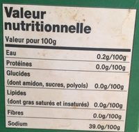 Flocons de sel de mer - Nutrition facts - fr