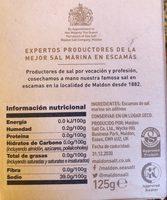 Sea Salt Flakes - Inhaltsstoffe - fr