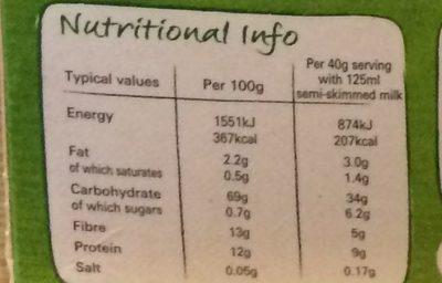 Shredded Wheat Bitesize - Nutrition facts - en