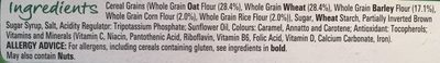 Cheerios whole grains - Ingredients - en