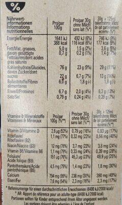 Cookies Crisp, Cerealien 0,38 KG Pro Packung - Nutrition facts - de