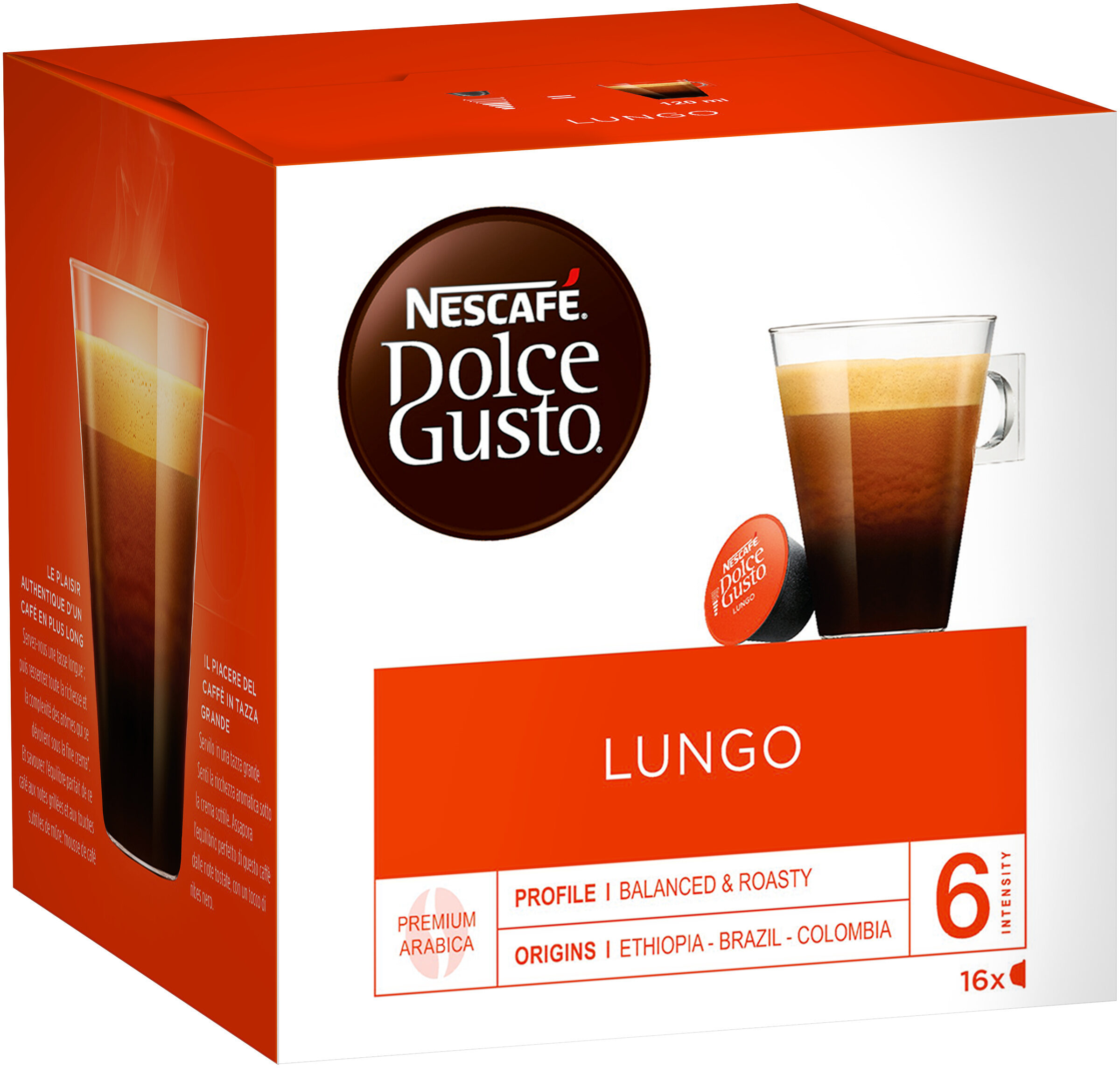 Capsules Dolce Gusto lungo 16 Capsules - Product - fr