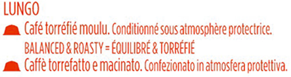 Capsules Dolce Gusto lungo 16 Capsules - Ingredients - fr