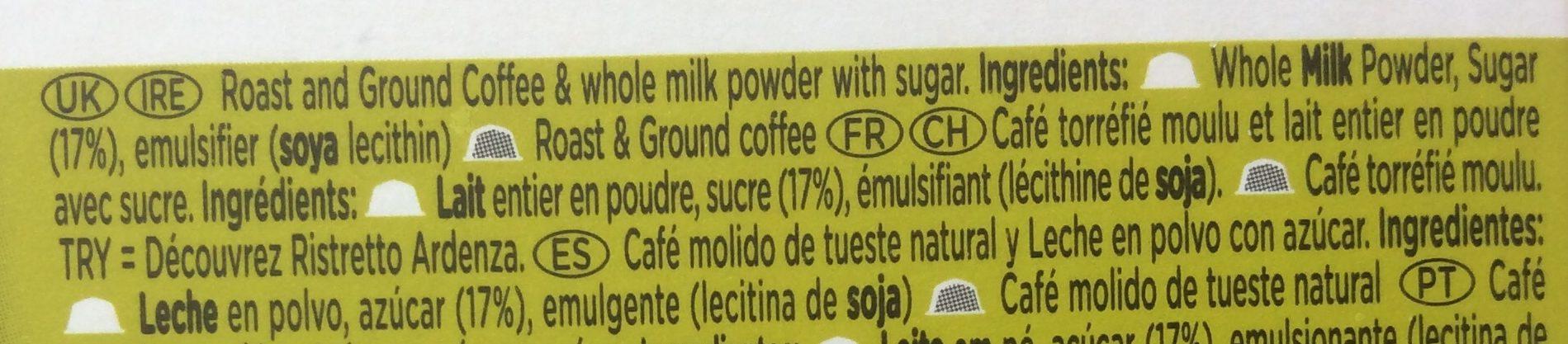 Cappuccino - Ingrediënten - fr