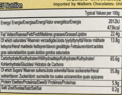 Walker Irish Cream Liq Truff 9 / 16 - Nutrition facts