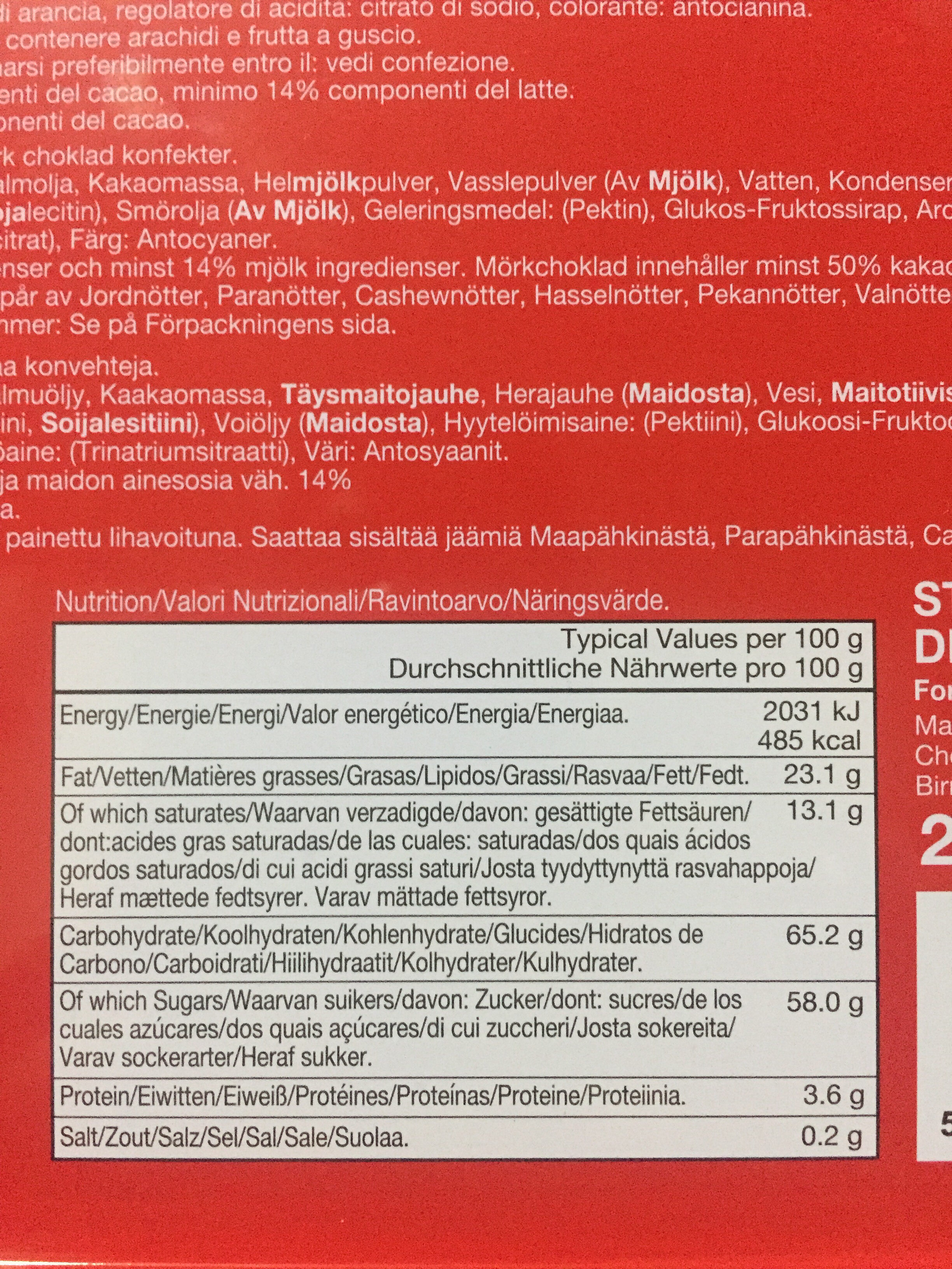 Walkers - Nutrition facts